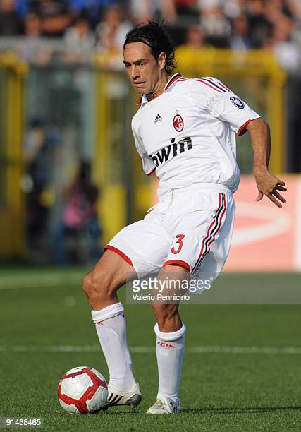Alessandro Nesta of AC Milan in action during the Serie A match between Atalanta BC and AC Milan at Stadio Atleti Azzurri d'Italia on October 04 2009...