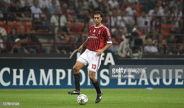 Alessandro Nesta of AC Milan in action during the UEFA Champions League group H match between AC Milan and FC Viktoria Plzen at Giuseppe Meazza...