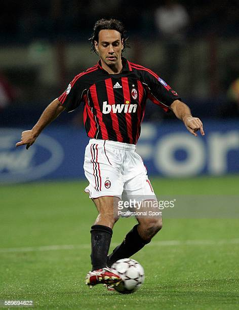 Alessandro Nesta of AC Milan in action during the UEFA Champions League semi final second leg match between AC Milan and Manchester United at the San...