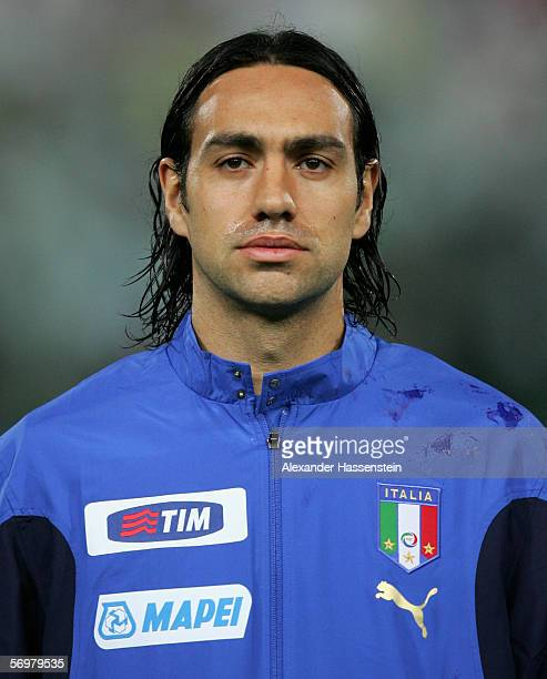 Alessandro Nesta of Italy looks on during the line up at the international friendly match between Italy and Germany at the Artemio Franchi Stadium on...