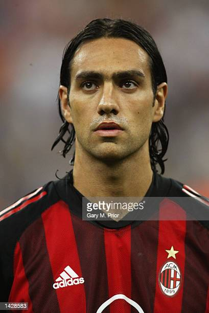 Alessandro Nesta of Milan during the line up before the UEFA Champions League match between AC Milan and RC Lens held at the Giuseppe Meazza San Siro...