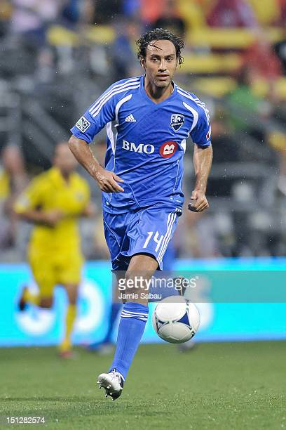 Alessandro Nesta of the Montreal Impact controls the ball against the Columbus Crew on September 1 2012 at Crew Stadium in Columbus Ohio