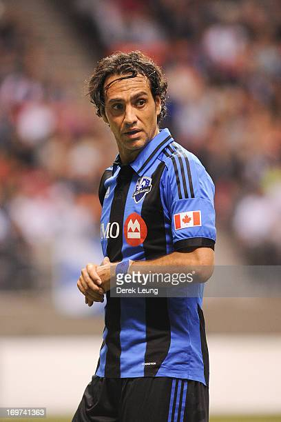 Alessandro Nesta of the Montreal Impact runs against the Vancouver Whitecaps during the finals of the Amway Canadian Championship at BC Place on May...