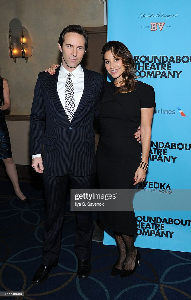 Alessandro Nivola and Gina Gershon attend Roundabout Theatre Company's 2014 Spring Gala at Hammerstein Ballroom on March 10, 2014 in New York City.