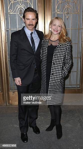 Alessandro Nivola and Patricia Clarkson attends the Broadway Opening Night performance of 'The Heidi Chronicles' at The Music Box Theatre on March 19...