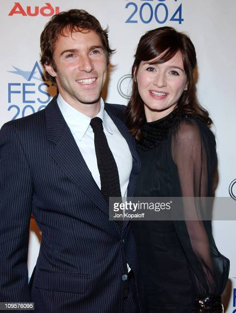 Alessandro Nivola and wife Emily Mortimer during 2004 AFI Film Festival 'Beyond The Sea' Premiere Opening Night Gala Arrivals at ArcLight Cinerama...