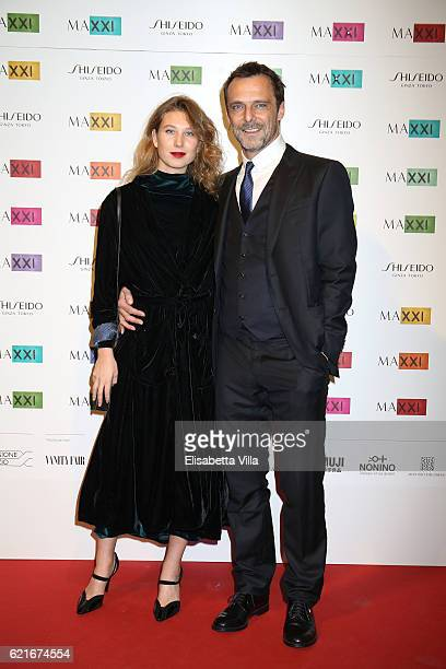 Alessandro Preziosi and Greta Carandini attend a photocall for the MAXXI Acquisition Gala Dinner 2016 at Maxxi Museum on November 7 2016 in Rome Italy