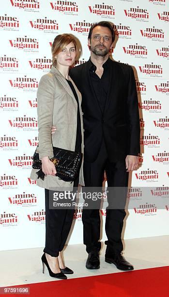 Alessandro Preziosi and Vittoria Puccini attend the 'Mine Vaganti' premiere at Auditorium Della Conciliazione on March 9 2010 in Rome Italy