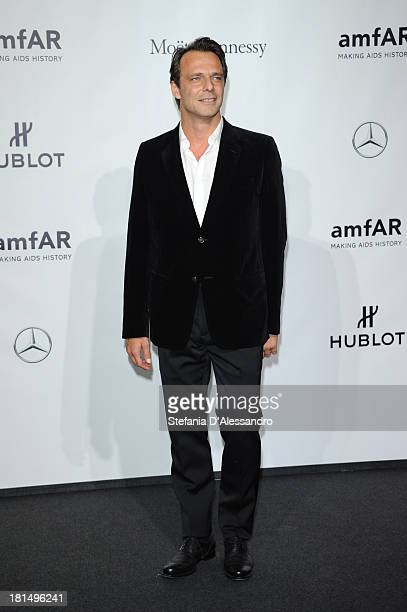 Alessandro Preziosi attends the amfAR Milano 2013 Gala as part of Milan Fashion Week Womenswear Spring/Summer 2014 at La Permanente on September 21...