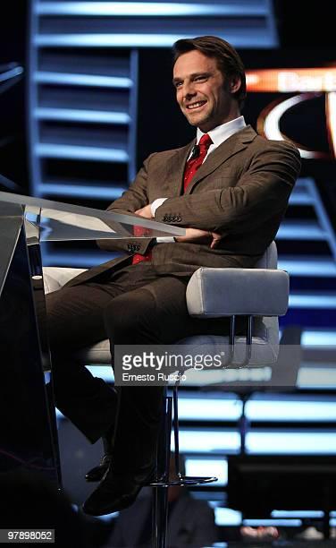Alessandro Preziosi attends the 'Barbareschi Sciok' Italian TV Show at La7 Studios on March 19 2010 in Rome Italy