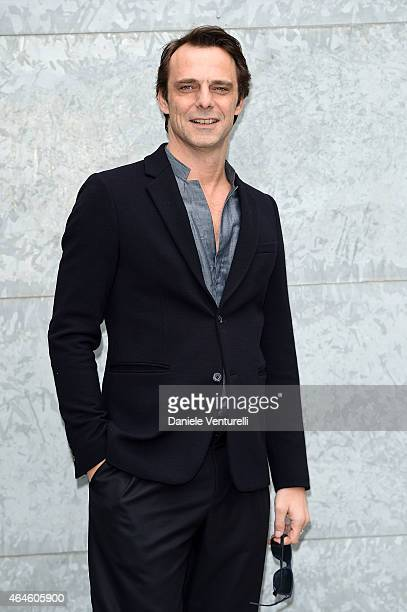 Alessandro Preziosi attends the Emporio Armani show during the Milan Fashion Week Autumn/Winter 2015 on February 27 2015 in Milan Italy