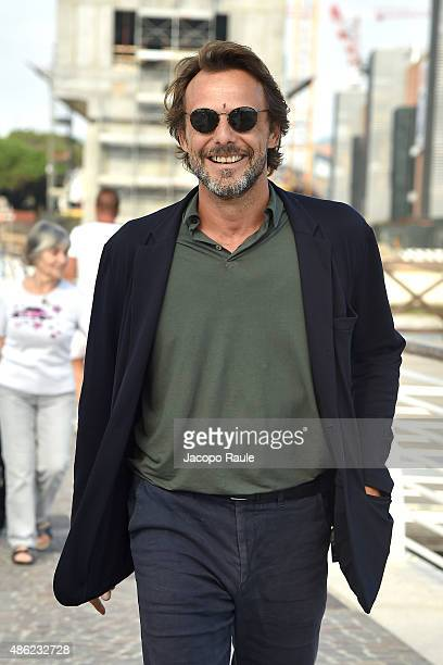 Alessandro Preziosi is seen arriving at Venice Airport during the 72nd Venice Film Festival on September 2 2015 in Venice Italy
