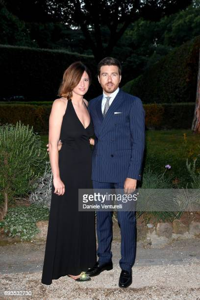 Alessandro Roja and Claudia Ranieri attend McKim Medal Gala at Villa Aurelia on June 7 2017 in Rome Italy