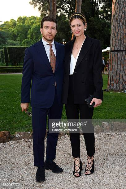 Alessandro Roja and Claudia Ranieri attends McKim Medal Gala In Rome at Villa Aurelia on June 9 2016 in Rome Italy