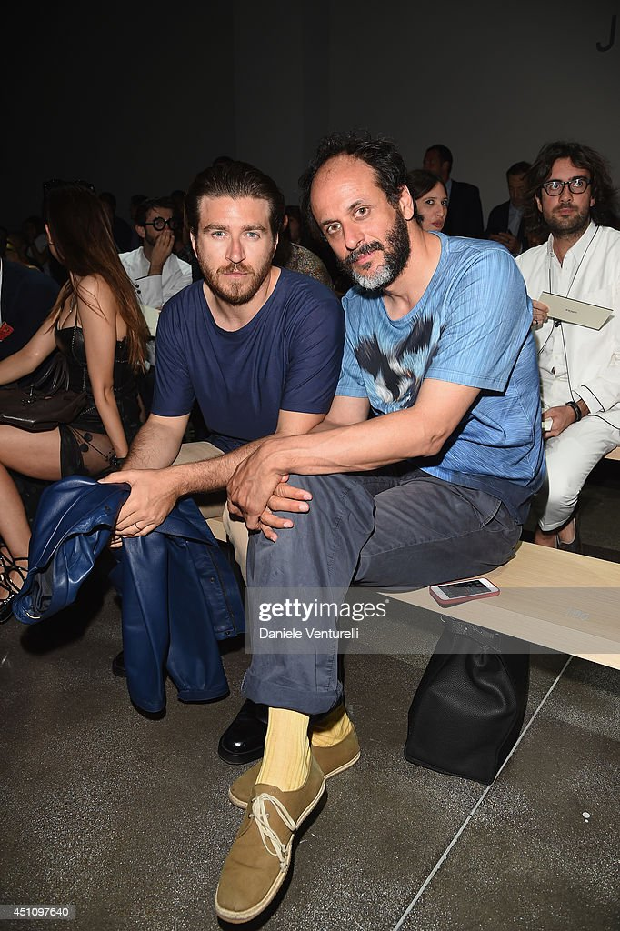 Alessandro Roja and <a gi-track='captionPersonalityLinkClicked' href=/galleries/search?phrase=Luca+Guadagnino&family=editorial&specificpeople=2154878 ng-click='$event.stopPropagation()'>Luca Guadagnino</a> (R) attend the Fendi show during Milan Menswear Fashion Week Spring Summer 2015 on June 23, 2014 in Milan, Italy.