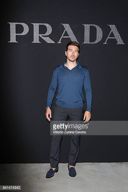 Alessandro Roja attends the Prada show during Milan Men's Fashion Week SS17 on June 19 2016 in Milan Italy
