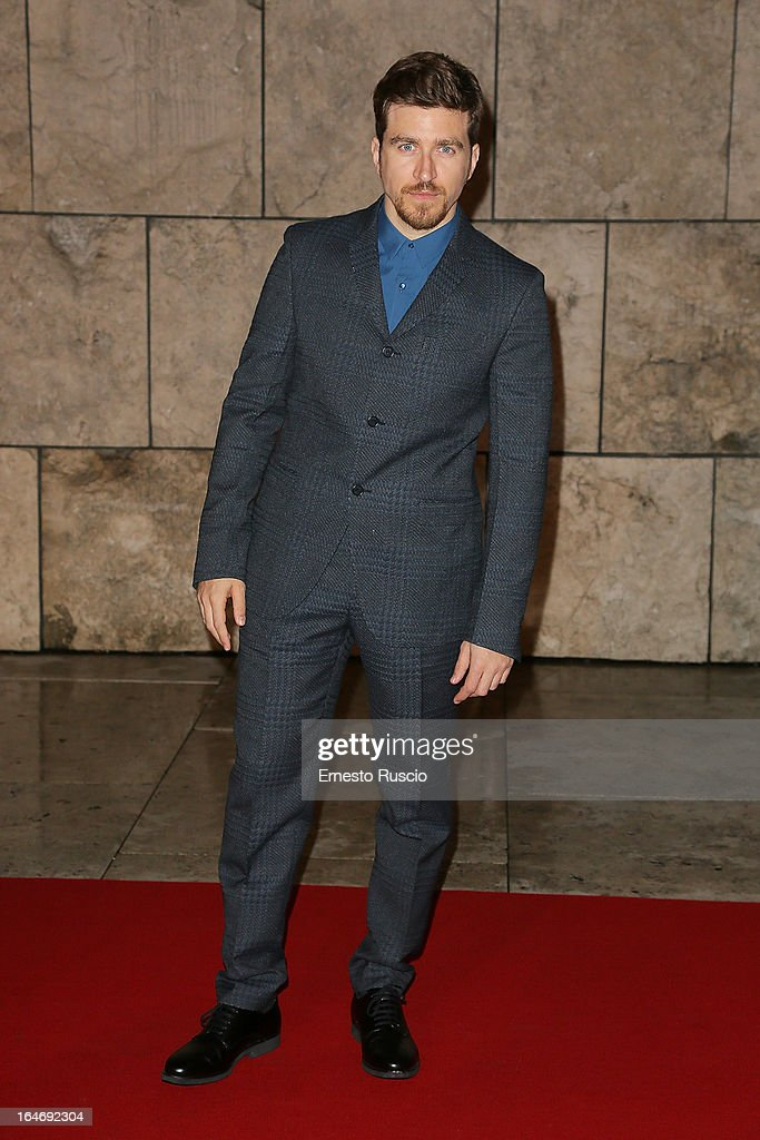 Alessandro Roja attends the 'Viaggio Sola' premiere at Ara Pacis on March 26, 2013 in Rome, Italy.