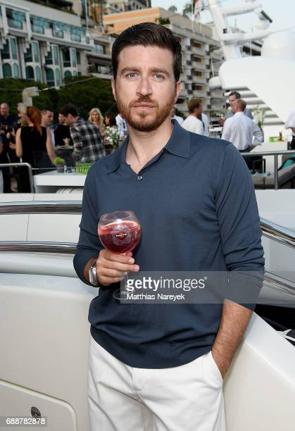 Alessandro Roja celebrates the Monaco Grand Prix at the Martini Yacht Party on May 26 2017 in Monte Carlo Monaco