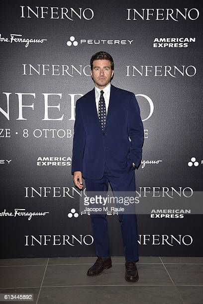 Alessandro Roja is seen in the VIP lounge ahead of 'Inferno' premiere on October 8 2016 in Florence Italy