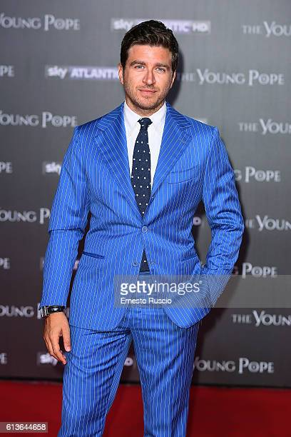 Alessandro Roja walks the red carpet at 'The Young Pope' premiere at The Space Cinema on October 9 2016 in Rome Italy