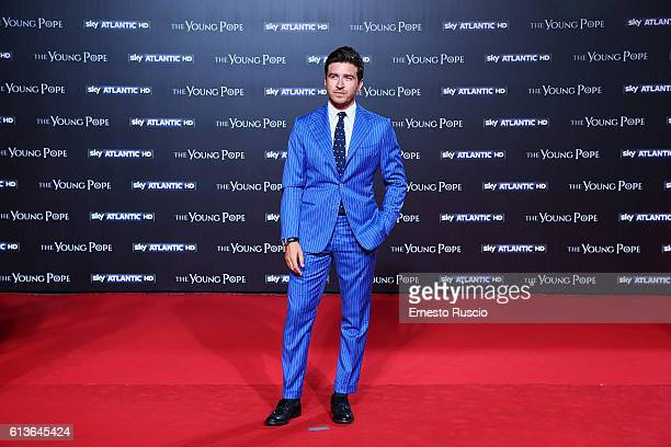 Alessandro Roja walks the red carpet at 'The Young Pope' premiere at The Space Cinema Moderno on October 9 2016 in Rome Italy