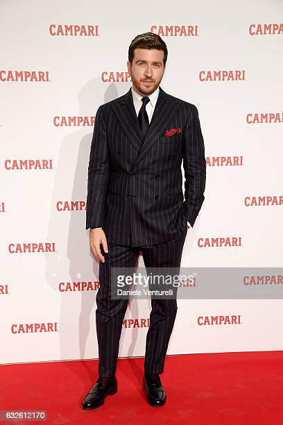 Alessandro Roja walks the red carpet for 'Campari Red Diaries Killer In Red' on January 24 2017 in Rome Italy