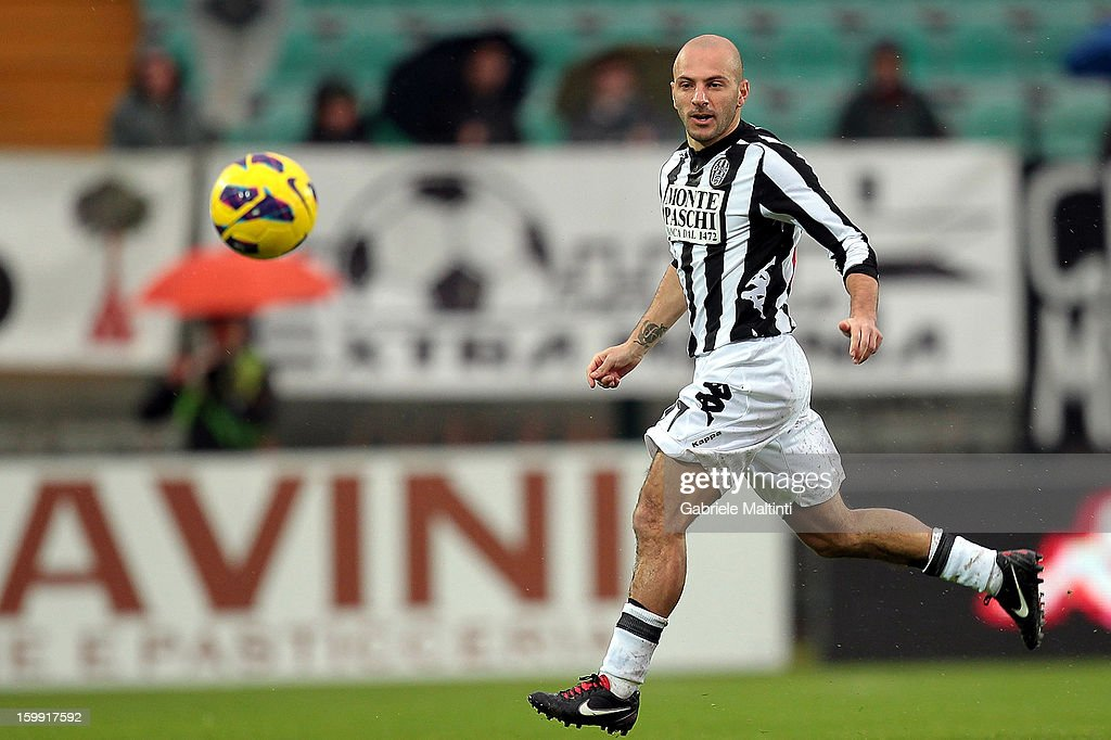 Alessandro Rosina of AC Siena in action during the Serie A match between AC Siena and UC Sampdoria at Stadio Artemio Franchi on January 20, 2013 in Siena, Italy.