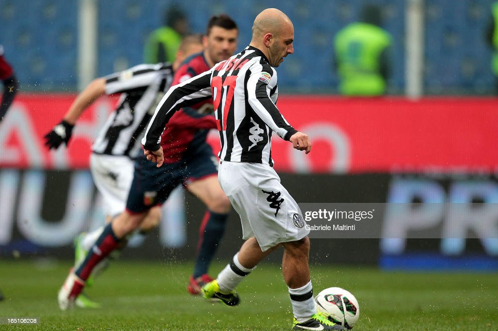 Alessandro Rosina of AC Siena scores a goal during the Serie A match between Genoa CFC and AC Siena at Stadio Luigi Ferraris on March 30, 2013 in Genoa, Italy.