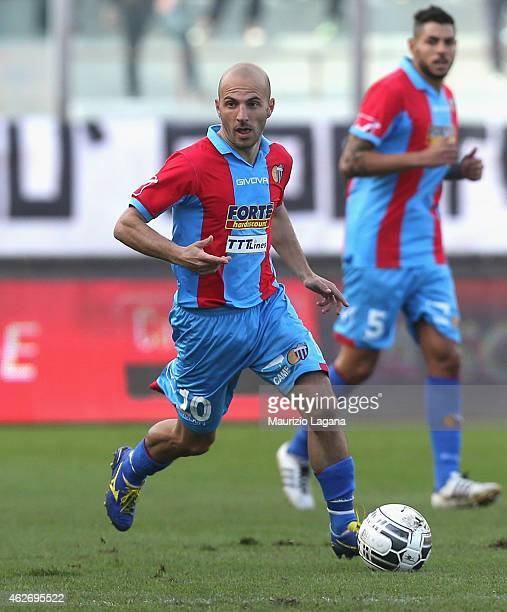 Alessandro Rosina of Catania during the Serie B match between Calcio Catania and AC Perugia at Stadio Angelo Massimino on January 31 2015 in Catania...