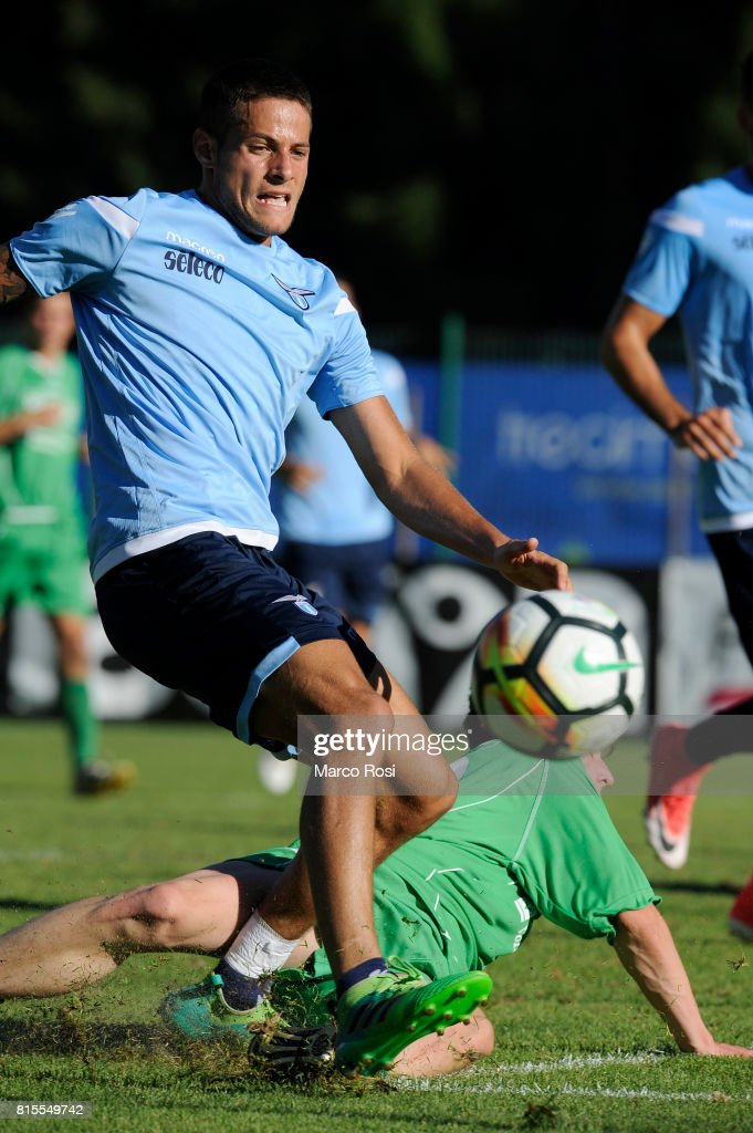 Alessandro Rossi of SS lazio in action during the Pre-Season Friendly match between SS Lazio and Reappresentativa Cadore on July 16, 2017 in Pieve di Cadore, Italy.
