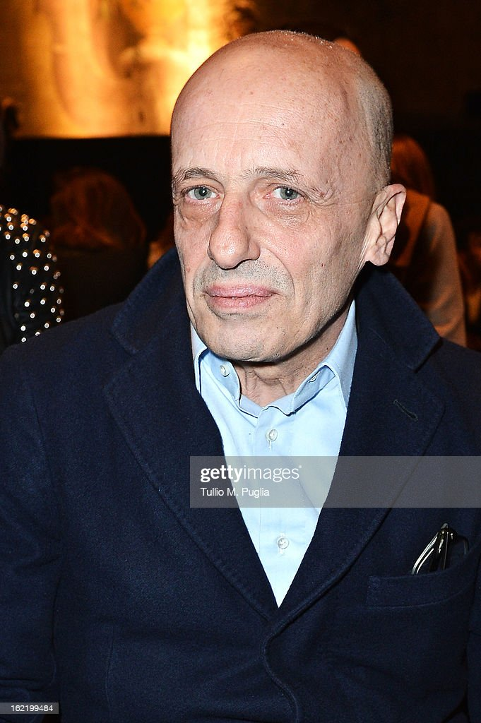 Alessandro Sallusti attends the Simonetta Ravizza fashion show as part of Milan Fashion Week Womenswear Fall/Winter 2013/14 on February 20, 2013 in Milan, Italy.