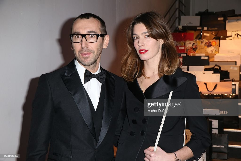 Alessandro Sartori and Antonine Peduzzi attend the Babeth Djian Hosts Dinner For Rwanda To The Benefit Of A.E.M. on December 6, 2012 in Paris, France.