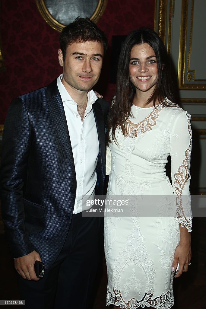 Alessandro Savelli and Julia Restoin Roitfeld attend the Founder And CEO Alessandro Savelli And Contemporary Style Icon Julia Restoin Roitfeld Launch SAVELLI The World's First Luxury Smart Phone Especially For Women During Haute Couture Week at Musee Jacquemart-Andre on July 3, 2013 in Paris, France.