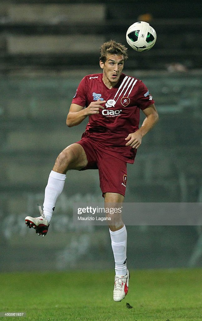 Alessandro Sbaffo of Reggina during the Serie B match between Reggina Calcio and US Citta di Palermo at Stadio Oreste Granillo on November 16, 2013 in Reggio Calabria, Italy.