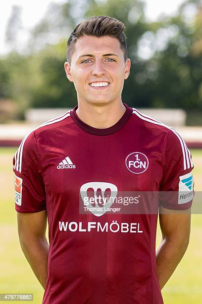 Alessandro Schoepf poses during the 1 FC Nuernberg team presentation at Sportpark Valznerweiher on July 06 2015 in Nuremberg Germany