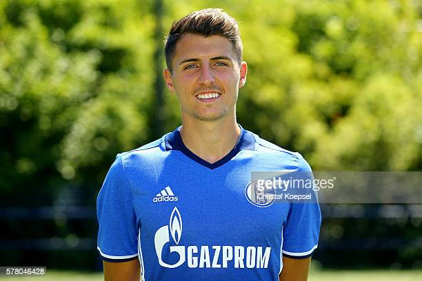 Alessandro Schoepf poses during the team presentation of FC Schalke at Veltins Arena on July 20 2016 in Gelsenkirchen Germany