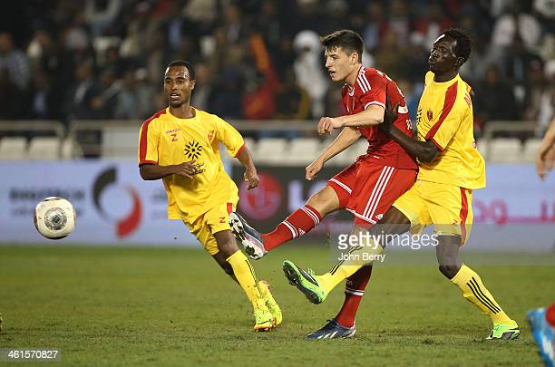 Alessandro Schopf of Bayern in action during the friendly match between Bayern Muenchen and Al Merrikh SC at the Al Sadd Stadium on January 9 2014 in...