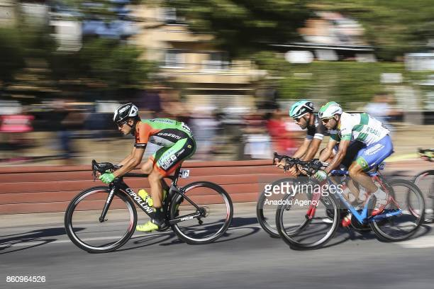 Alessandro Tonelli of Bardiani CSF and Roberto Silva of Soul Brasil compete in 2041 kilometers long Marmaris Selcuk lap during the 53rd Presidential...