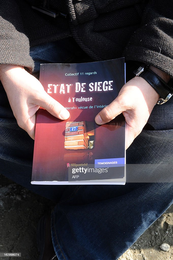 Alessandro Vargas, the next-door neighbour of late Islamist gunman Mohamed Merah, explains why he wrote the book entitled 'Etat de Siege' (State of Siege) on March 2, 2013 in Toulouse, southwestern France, a year after the assault by special police forces unit (RAID) onto their building to arrest Merah. Frenchman of Algerian descent, Mohamed Merah, 23, a self-described Al-Qaeda sympathizer, who killed a rabbi, three Jewish schoolchildren and three French paratroopers, was shot dead in a police siege in Toulouse ON mARCH