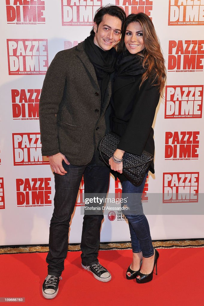 Alessandro Ventura and Alessia Ventura attend 'Pazze di Me' Premiere at Cinema Odeon on January 22 2013 in Milan Italy