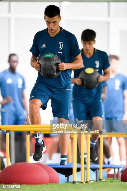 Alessandro Vogliacco of Juventus during the morining training session on July 11 2017 in Vinovo Italy