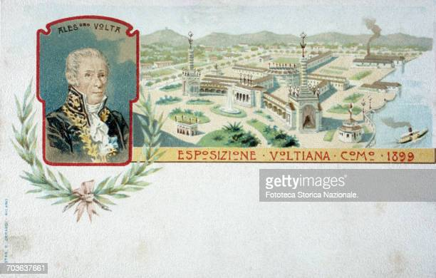 Alessandro Volta a postcard for the Exhibition Volta Como 1899 Volta the Italian scientist in a communication addressed to the president of the Royal...