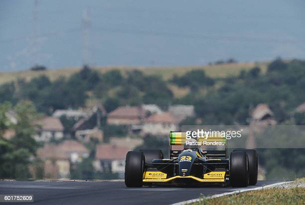 Alessandro Zanardi of Italy drives the Minardi Team Minardi M192 Lamborghini V12 during practice for the Hungarian Grand Prix on 15 August 1992 at...