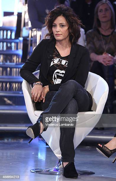 Alessia Barela appears on Italian tv show 'Quelli Che Il Calcio' on December 22 2013 in Milan Italy