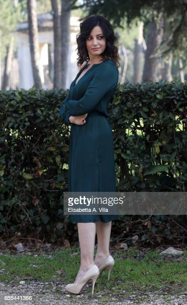 Alessia Barela attends a photocall for 'La Porta Rossa' fiction Rai at Villa Borghese on February 15 2017 in Rome Italy