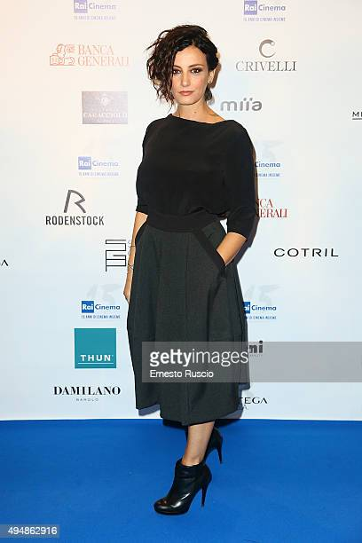 Alessia Barela attends a photocall for the 'RAI Cinema 15th Anniversary' at Auditorium Della Conciliazione on October 29 2015 in Rome Italy