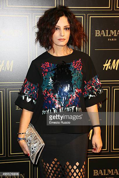 Alessia Barela attends Balmain For HM Collection Preview Photocall on November 3 2015 in Rome Italy