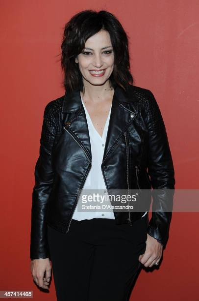 Alessia Barela attends 'Il Natale Della Mamma Imperfetta' Photocall on December 17 2013 in Milan Italy