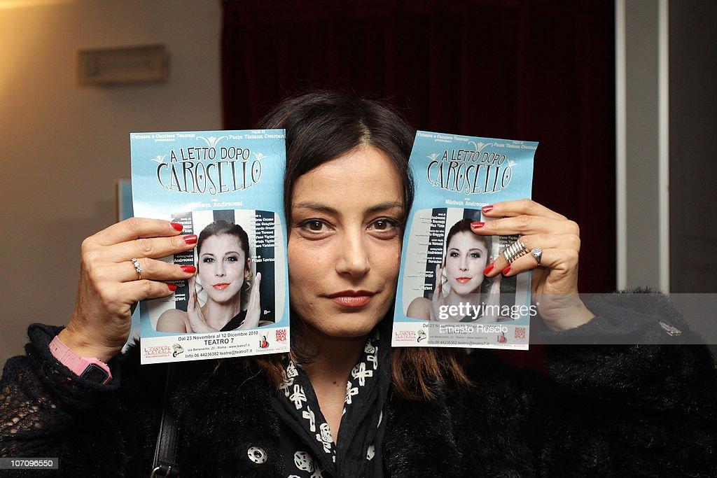 Alessia Barela attends the 'A Letto Dopo Il Carosello' theatre premiere at Teatro 7 on November 23, 2010 in Rome, Italy.