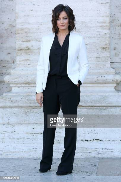 Alessia Barela attends the 'Il Natale Della Mamma Imperfetta' photocall at Space Moderno on December 14 2013 in Rome Italy